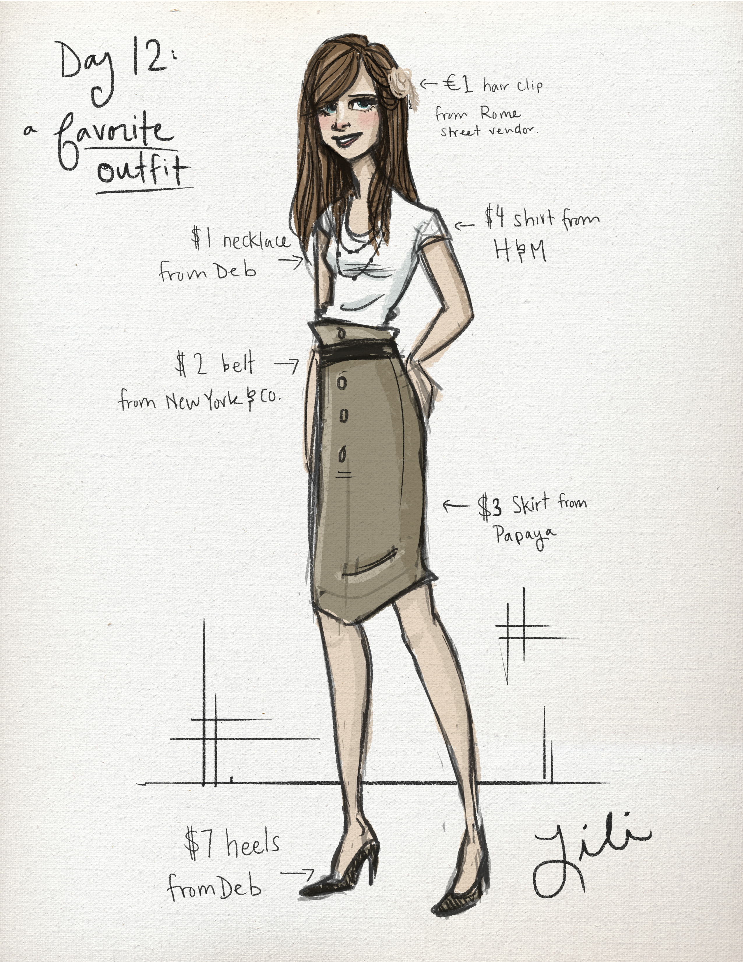 Day 12 A Favorite Outfit Lili Ribeira Graphic Design